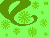 Green floral design. Flowers design on green background vector illustration