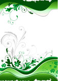 Green floral design Stock Images