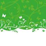 Green Floral Design Stock Photo