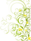Green floral design with yellow flowers. Green spring floral design with yellow flowers Stock Photos