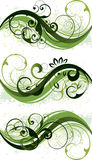 Green Floral Designs Stock Image