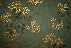 Green floral fabric Stock Image
