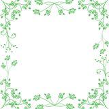 Green floral frame Stock Images