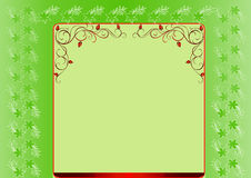 Green floral frame Royalty Free Stock Image