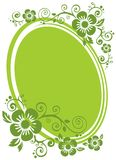 Green floral frame Stock Photography