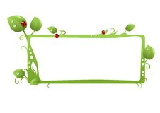 Green floral frame Royalty Free Stock Photography