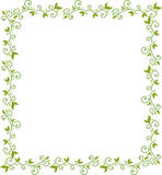 Green floral frame Royalty Free Stock Photo
