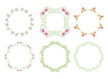 Green floral frames - set Stock Photos