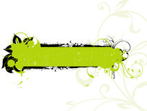 GREEN FLORAL GRUNGE BANNER Royalty Free Stock Photo