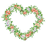 Green floral heart Stock Images