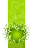 Green floral heart made of leafs Royalty Free Stock Photos