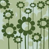 Green floral icon Royalty Free Stock Images