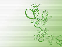 Green Floral Illustration Royalty Free Stock Images