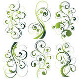 Green floral illustrations Stock Photo