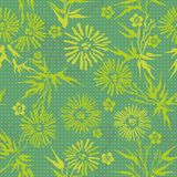 Green floral  Japanese pattern Royalty Free Stock Image