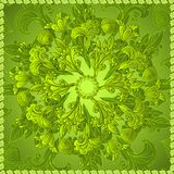 Green floral ornament background Stock Image