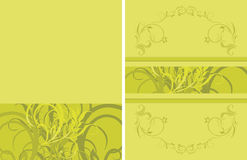 Green floral ornamental background Stock Photo