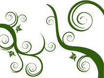 Green floral ornaments. Vector illustration of an abstract floral background Stock Photo