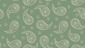 A green floral paisley pattern background. Vector. vector illustration