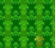 Green Floral Patten. Vector Illustration. No Meshes stock illustration