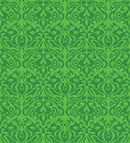 Green floral pattern Stock Image