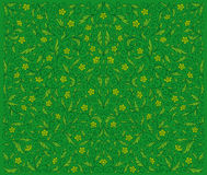 Green Floral Pattern. Symmetrical green floral pattern. EPS8 Royalty Free Stock Photo