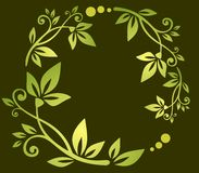 Green floral pattern Stock Photo