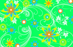 Green Floral Pattern Background Royalty Free Stock Photography
