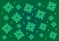 Green floral pattern, background Royalty Free Stock Image