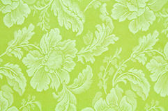 Green floral pattern fabric  Stock Photography