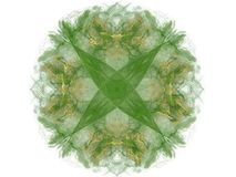 Green floral pattern in the form of an abstract fractal Royalty Free Stock Photo