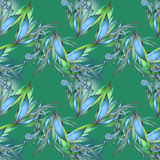 Green floral pattern Royalty Free Stock Photos