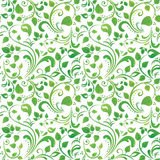 Green floral pattern. Green seamless floral pattern or background Stock Photography