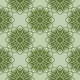 Green floral pattern. Seamless background with flowers. Vector Royalty Free Stock Image