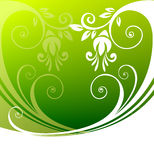 Green floral pattern Stock Photos