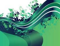 Green floral ribbon Stock Photo
