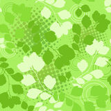Green floral seamless. Royalty Free Stock Image