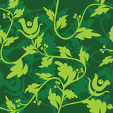 Green floral seamless patter Stock Photo