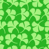 Green floral seamless pattern vector illustration