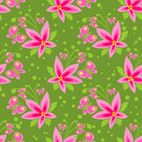 Green floral seamless pattern Royalty Free Stock Photos