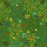 Green floral seamless pattern Royalty Free Stock Image