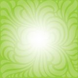 Green floral shaped Background. Green paper background with copy space Stock Photography
