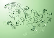 Green floral shapes Royalty Free Stock Photography