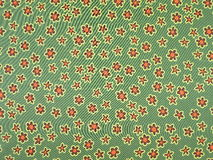 Green floral silk Royalty Free Stock Photography