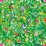 Green floral spring and summer pattern Stock Images
