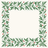 Green floral square frame. Royalty Free Stock Image