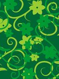 Green floral texture vector Stock Photography