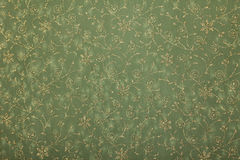 Green floral twirls handmade art paper Stock Photo