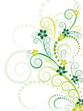 Green floral vector Stock Image