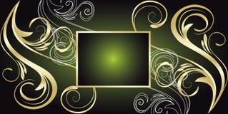 Green floral vector banner. Green floral banner. vector illustration royalty free illustration